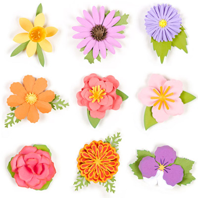 3D Flowers SVG Kit