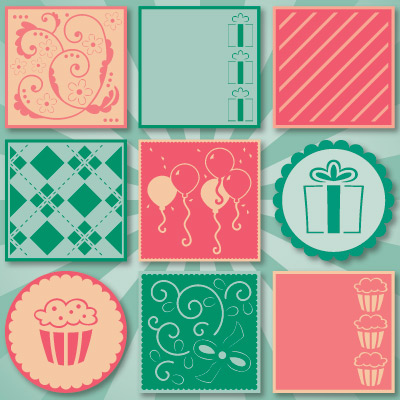 3D Birthday Cards SVG Kit