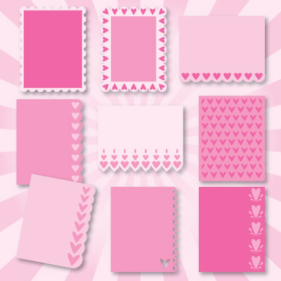 A2 Lace Edged Cards SVG Collection