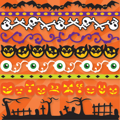 Bella's Halloween Strips SVG Collection