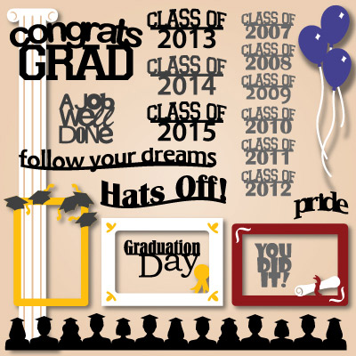 Graduation Frames and Captions SVG Collection