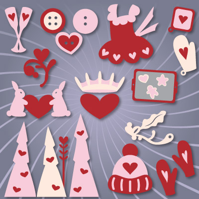 Valentine Country Home Elements SVG Collection
