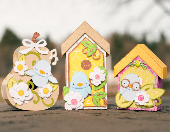 Spring Birdhouses SVG Kit