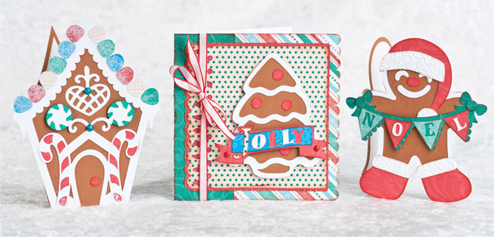 Warm Gingerbread Cards SVG Kit