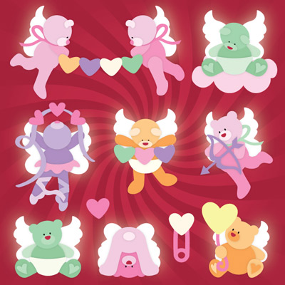 Candy Cherub Bears SVG Collection
